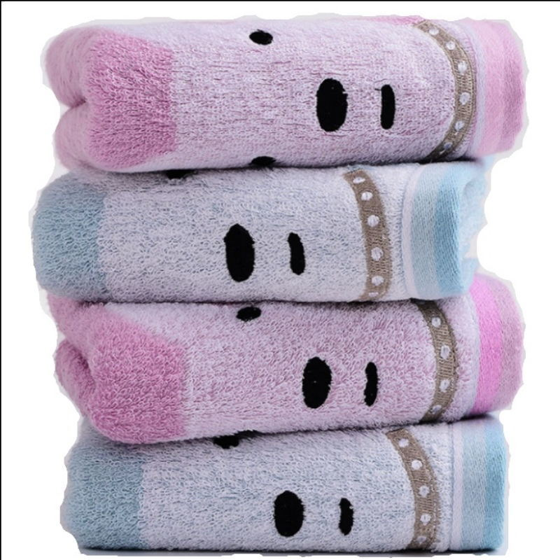 Face Pink Silk for Face Fitness Custom Woven Bamboo_Face_Towel
