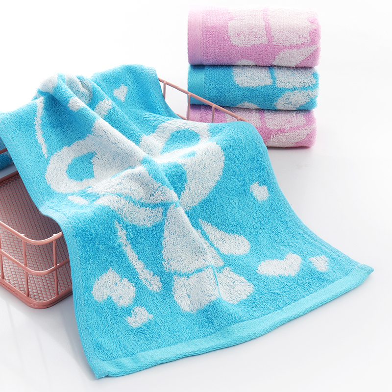 Face Pink Silk for Face Fitness Custom Woven Bamboo Face Towel