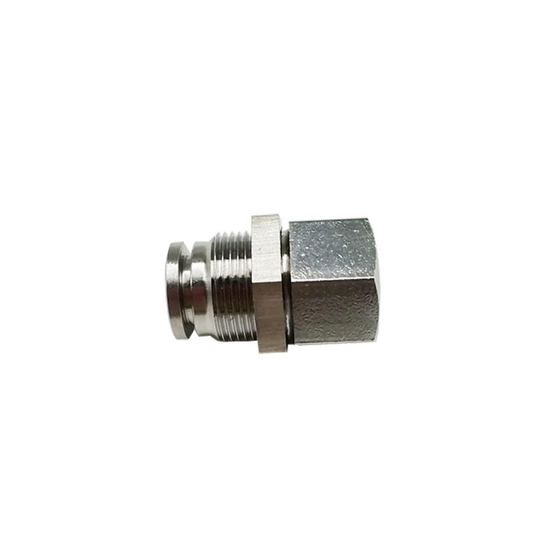 BKC-PMF8-02 Stainless Steel Bulkhead Connector fittings oxidation-resisting 1/4in Pneumatic Component
