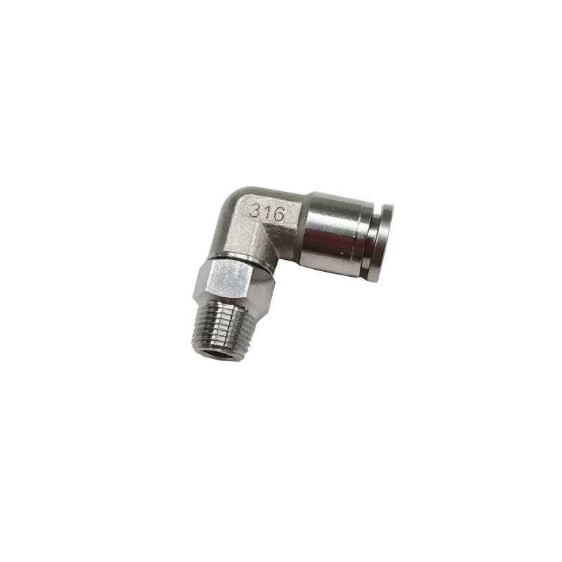 Metal male elbow BKC-PL8-01 oxidation-resisting 1/8in 1/4in Pneumatic Quick Connecting Tube Fitting