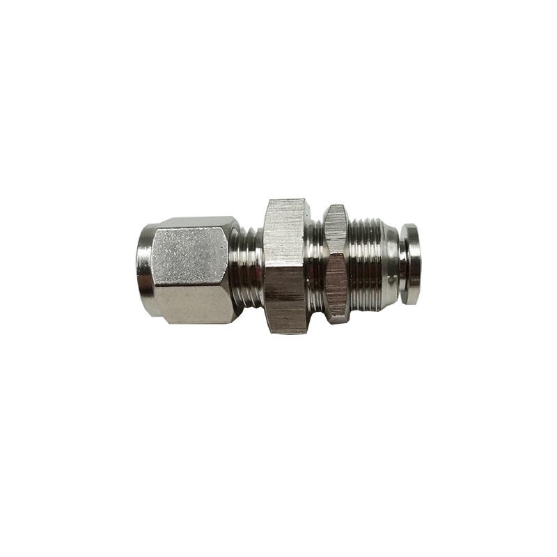 Compressor nebulizer BKT-PK8 stainless steel push in-push on bulkhead adapte pneumatic fitting