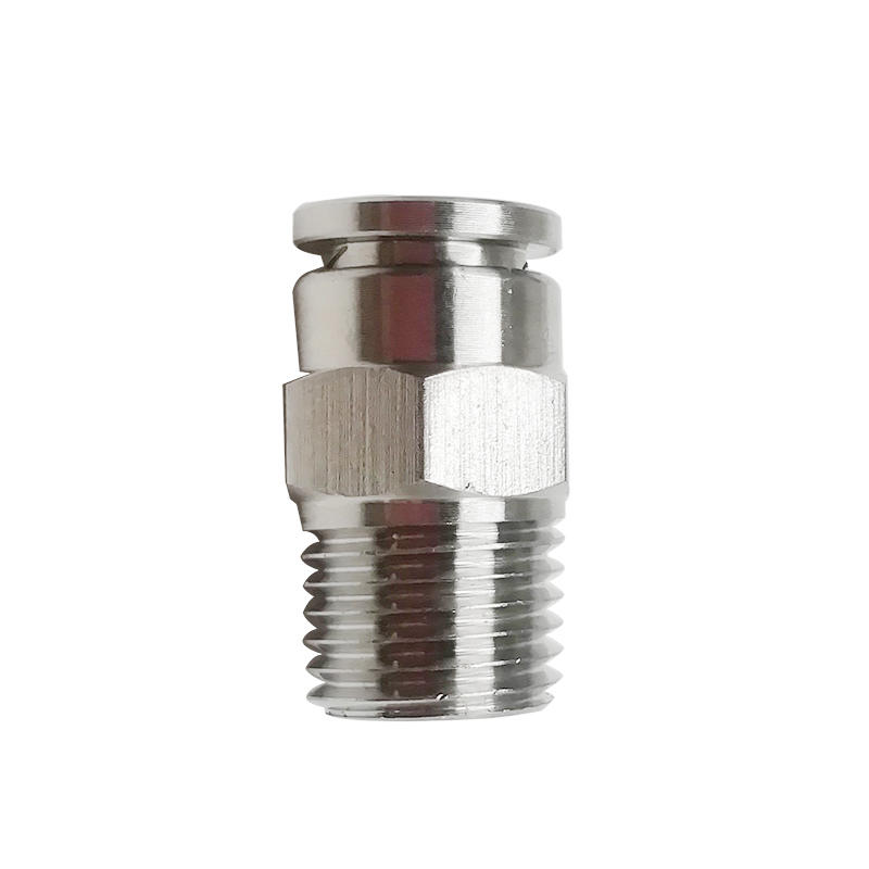 PC6-02 NPT Push In Copper Nickel Plating 1/4 Inch Quick Connector Pneumatic Fitting