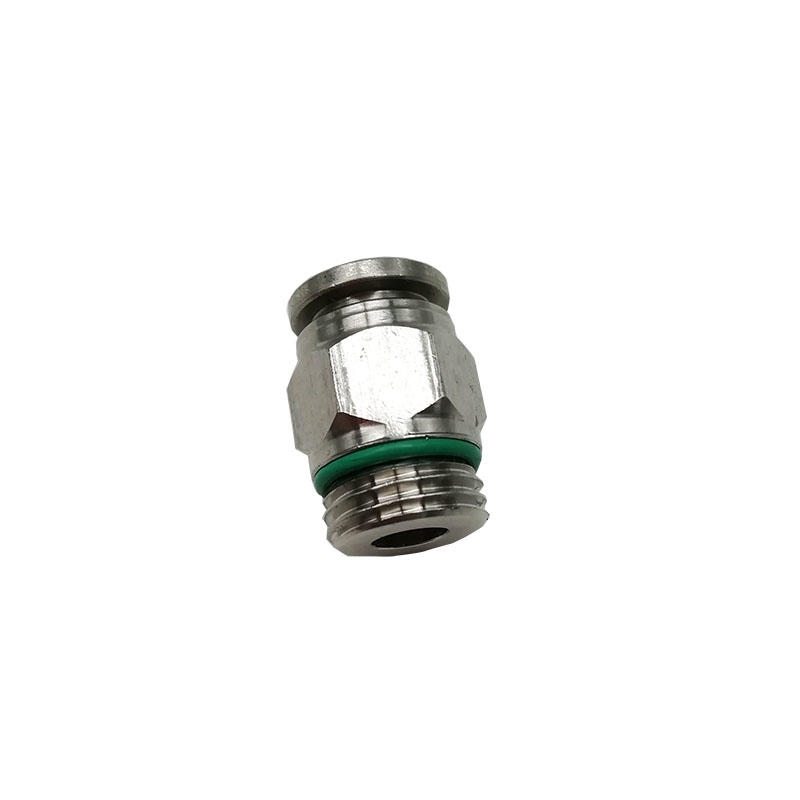 BKC- PC8-01G Pneumatic joint 1/8in stainless steel straight mate connector air fitting pneumatic