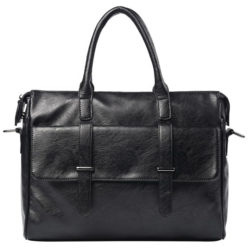 Professional Manufacturer Supplier PU briefcases for men waterproof fashion business laptop bag men black handbag portfolio case