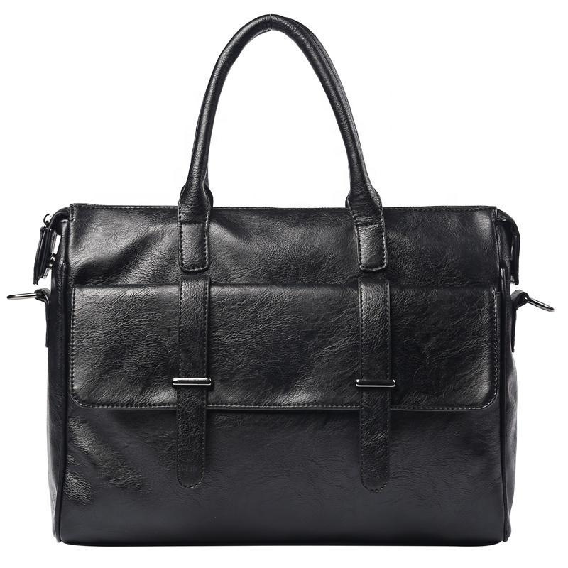 Professional Manufacturer Supplier PU briefcases for men waterproof fashion business laptop bag men black handbag portfolio case