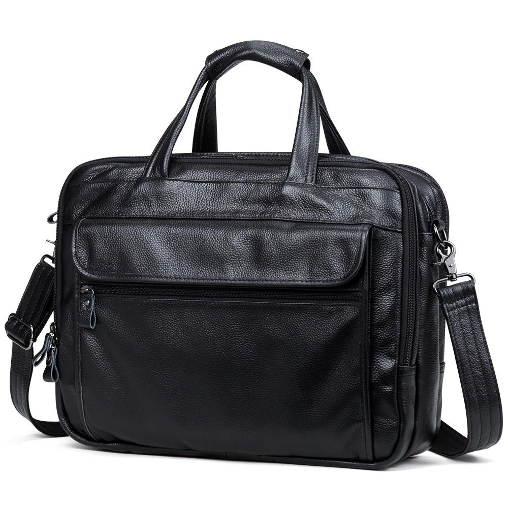 Large Men Leather Handbags man pu Leather Business Travel cases Bag Men's 15.6 Inch Laptop Shoulder Bag Business A4 Bag