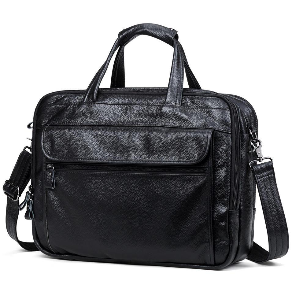 Large Men Leather Handbags man pu Leather Business Travel cases Bag Men's 15.6 Inch Laptop Shoulder Bag Business A4 Bag