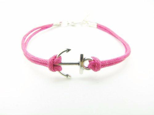 Wholesale simple design buckle alloy anchor bracelet