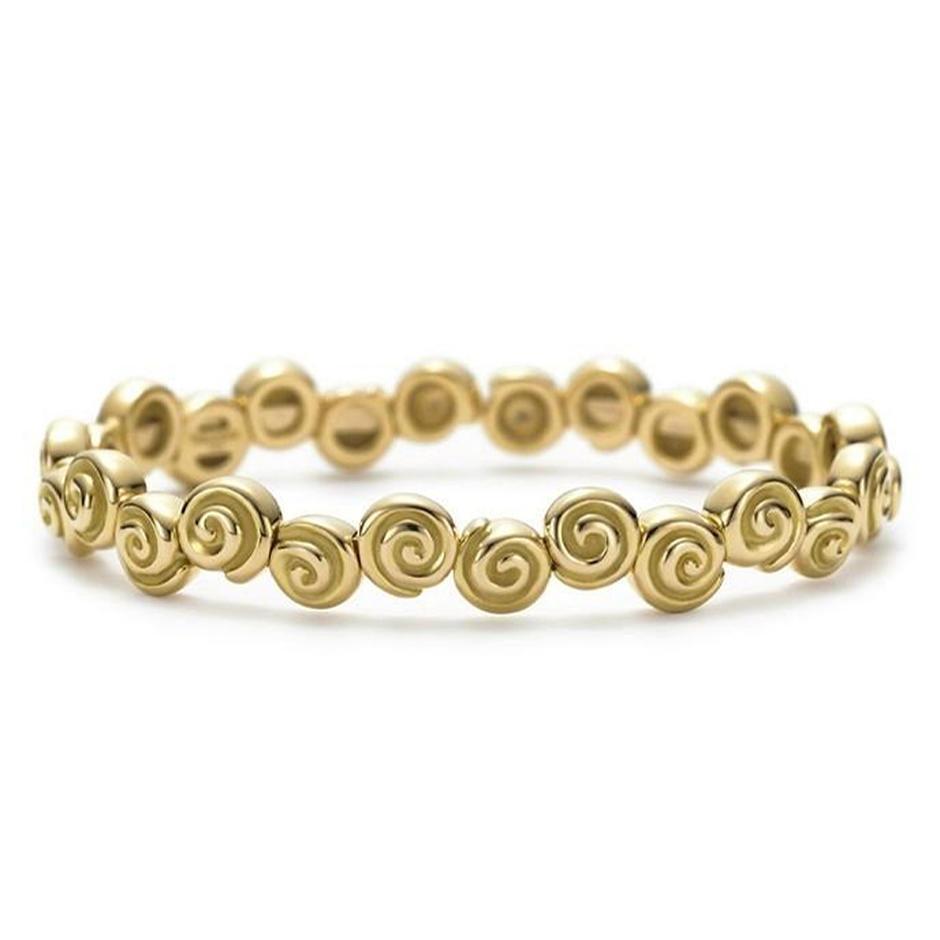 Fashion Jewelry Silver Volume Spiritual Bracelet 18k Gold Plating