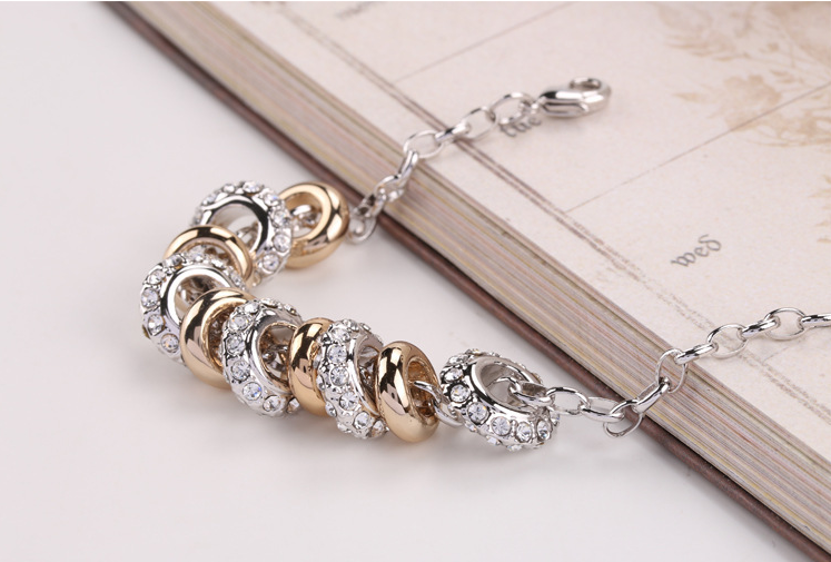Profound Engraved Silver Beads Alloy Free Style Christian Bracelets