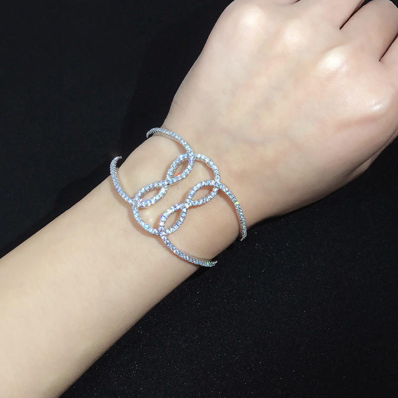 Personalised Geometric Hollowed-Out Sailor Knot Open Nautical Bracelet