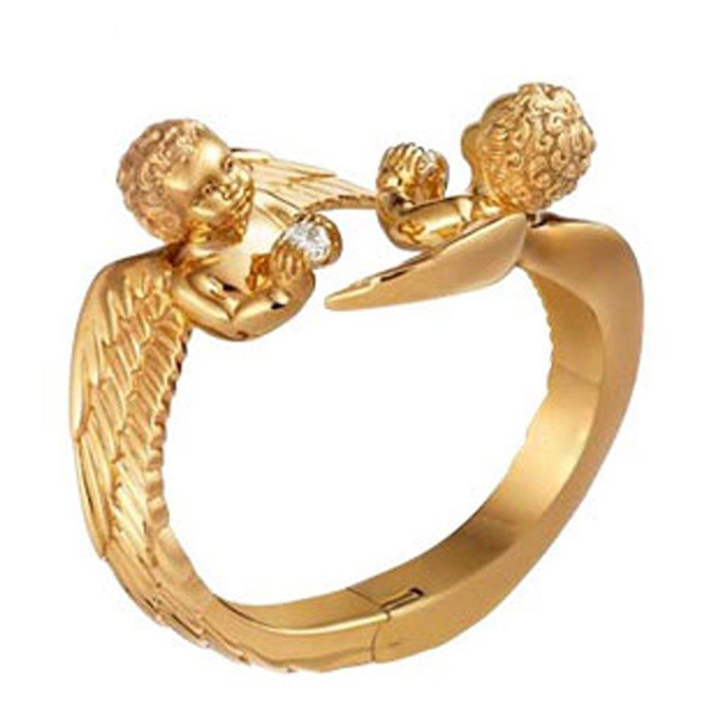 Charming gold plated fashion silver angel wing bracelet