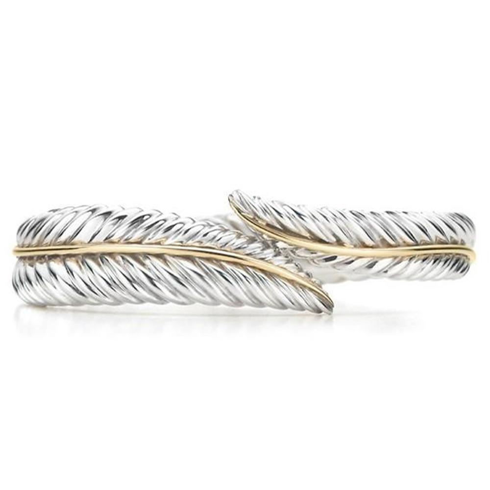 925 Silver Latest Leaf Design Palm Cuff Bangle