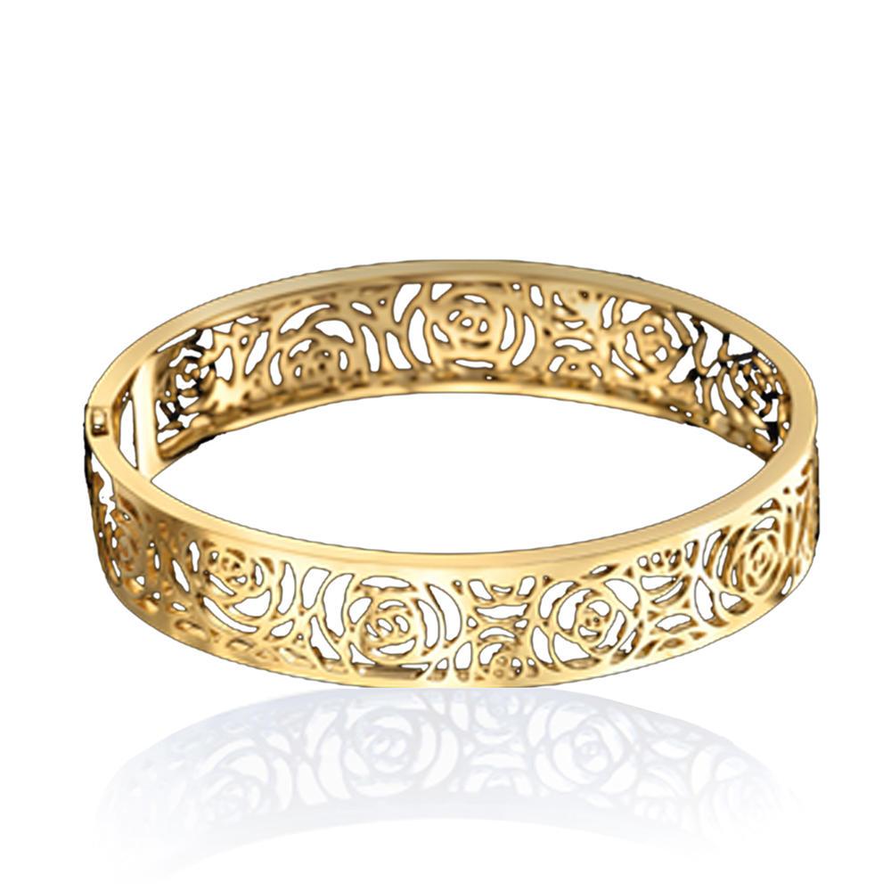 Rose flower platinum plating sterling silver bracelet bangle anklet