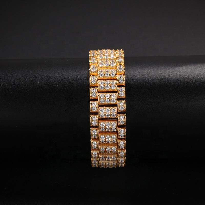 Fanciest Designer Silver Simple Mens Gold Bracelet Hip Hop