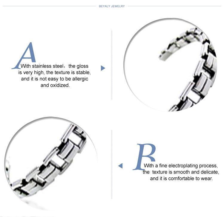 Satin finish men titanium accessory diamond tennis bracelet