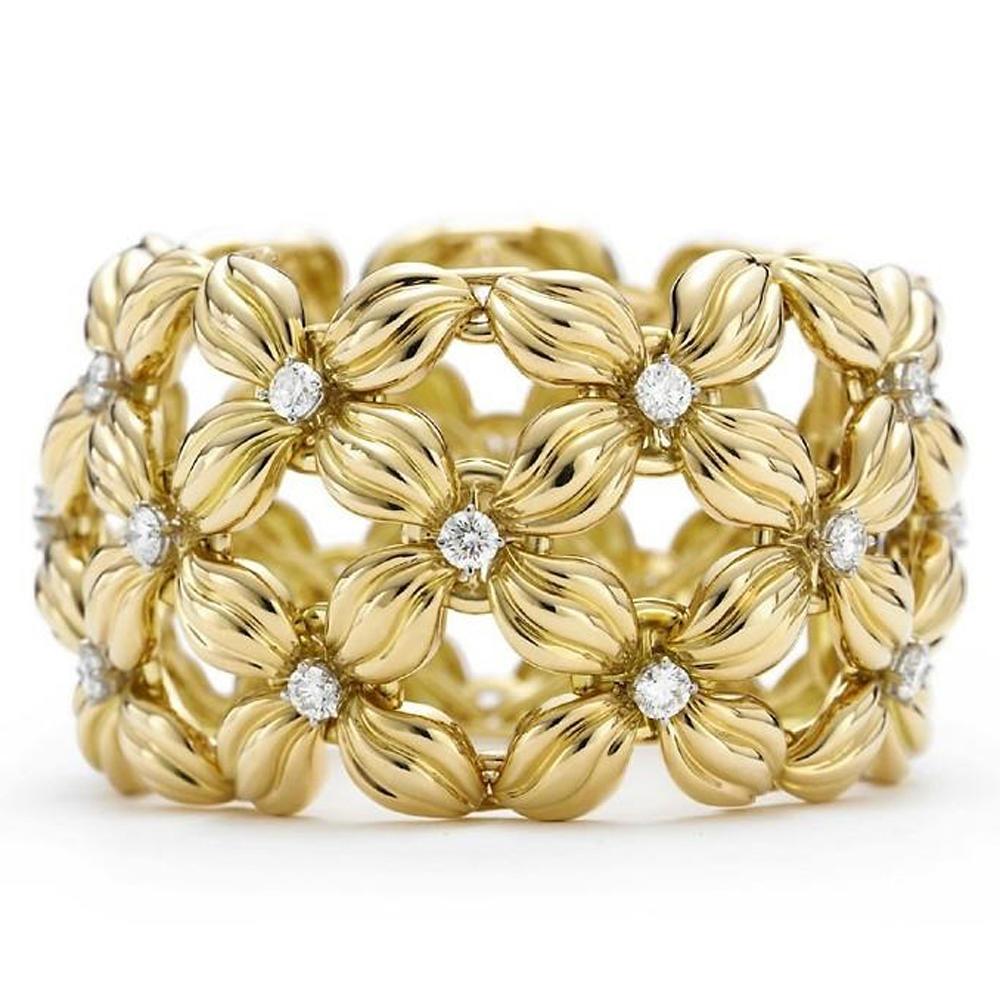 Girls silver cz luxury flower gold 24k jewelry