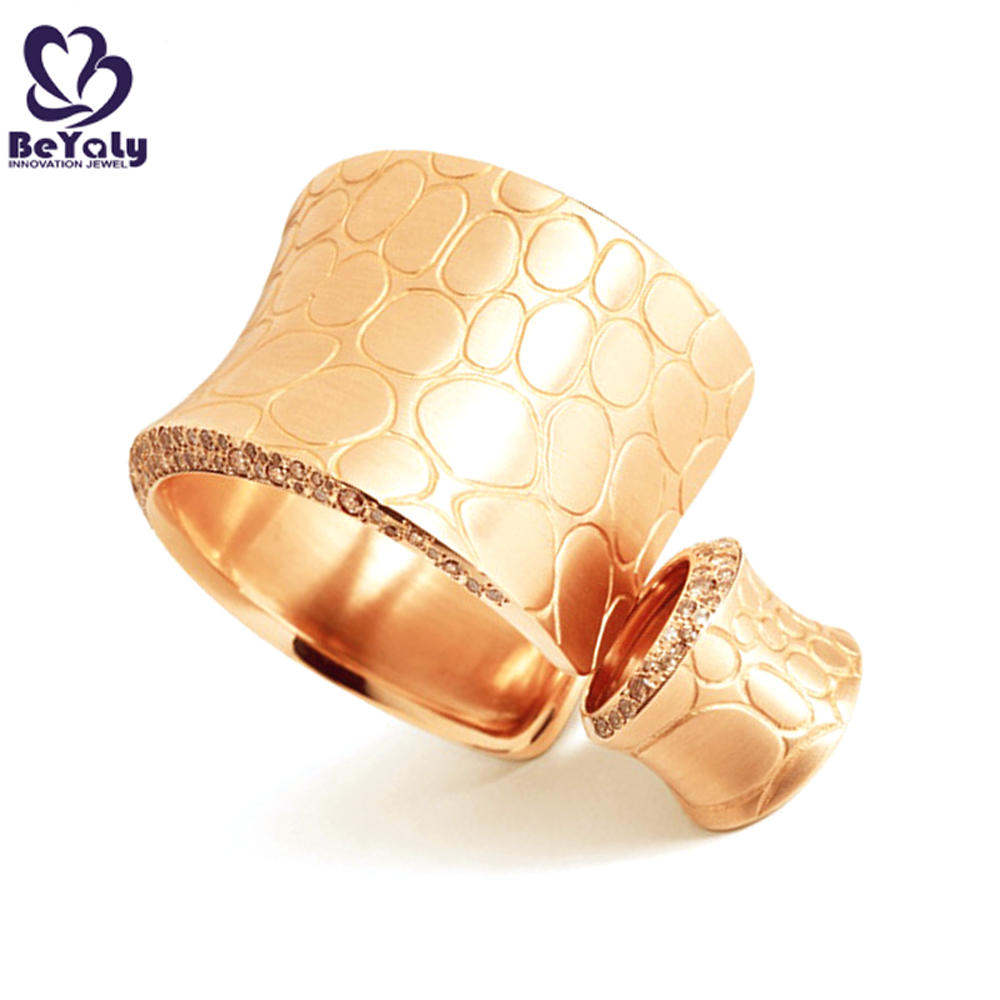 Gold color silver ring and bangle set women accessories