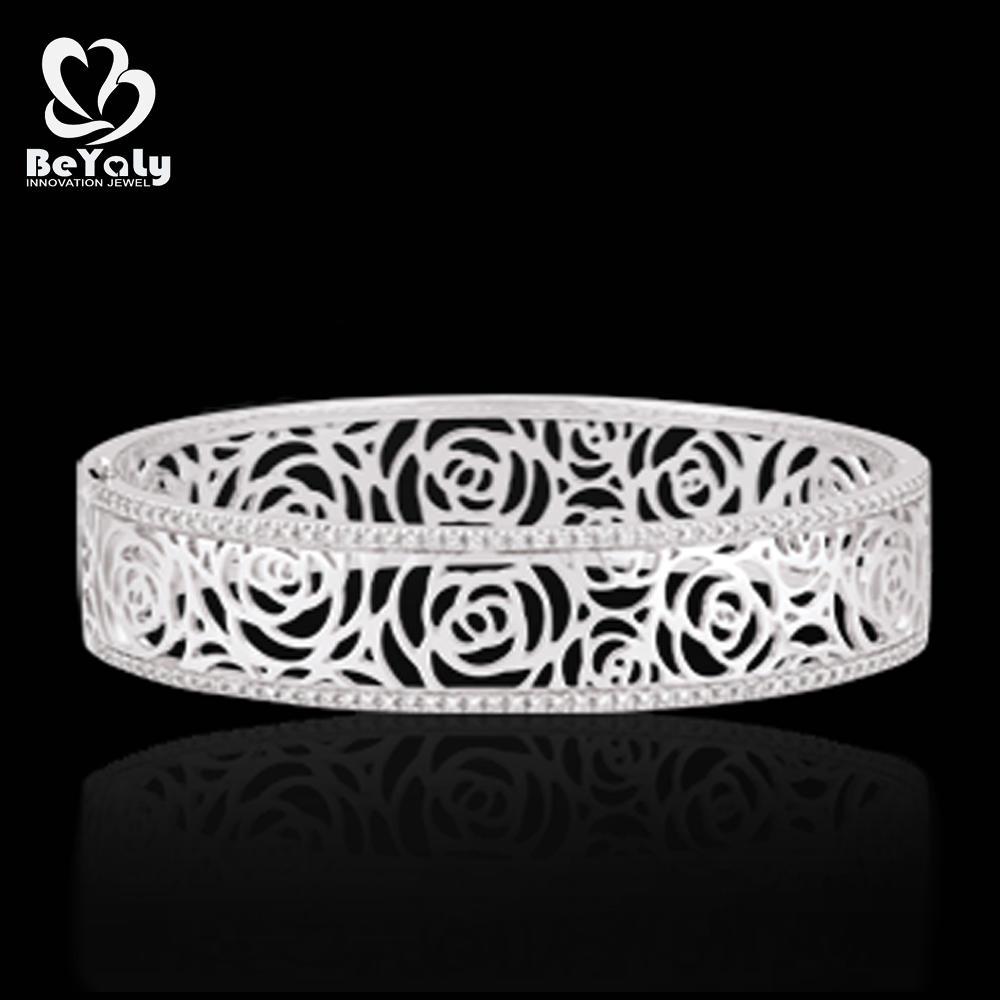 Charming Carved Rose Flower Design 1 Gram Gold Bangles