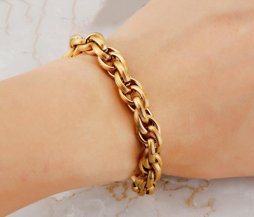 Cheap Latest Design Men Golden Bracelet Slave Bracelet Jewelry