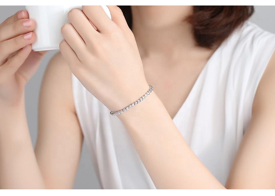 Beads Chain Design Sterling Silver 925 Bracelets
