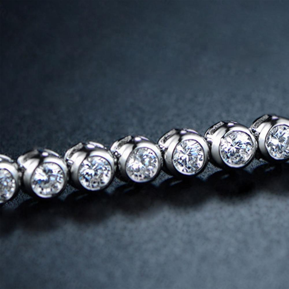 Beauty Girls AAA Cz Silver Bracelets Souvenir For Party