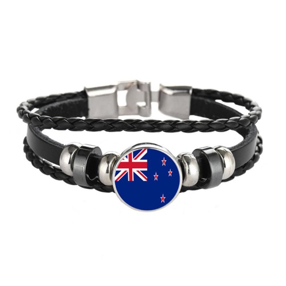 Unique design wholesale jewelry country flags thread bracelet