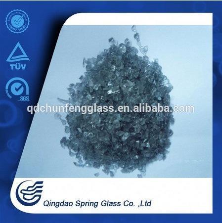 Black Crushed Glass for Biulding