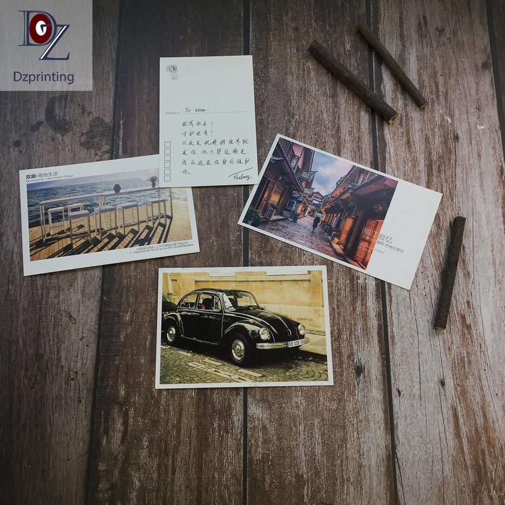 Postcard printing factory 4X6 custom travel post card