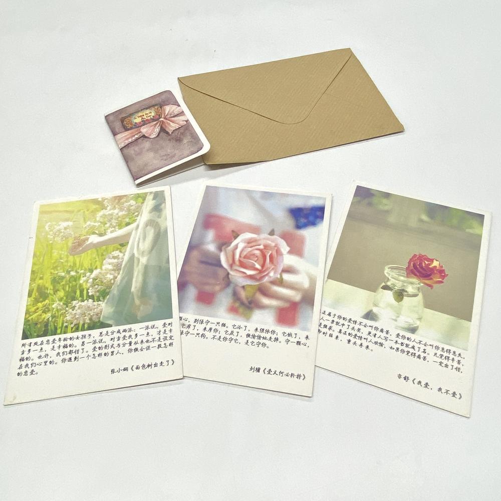 Custom Postcards Card Time Record Flower Label Card Insertion Landscape Sign Plate