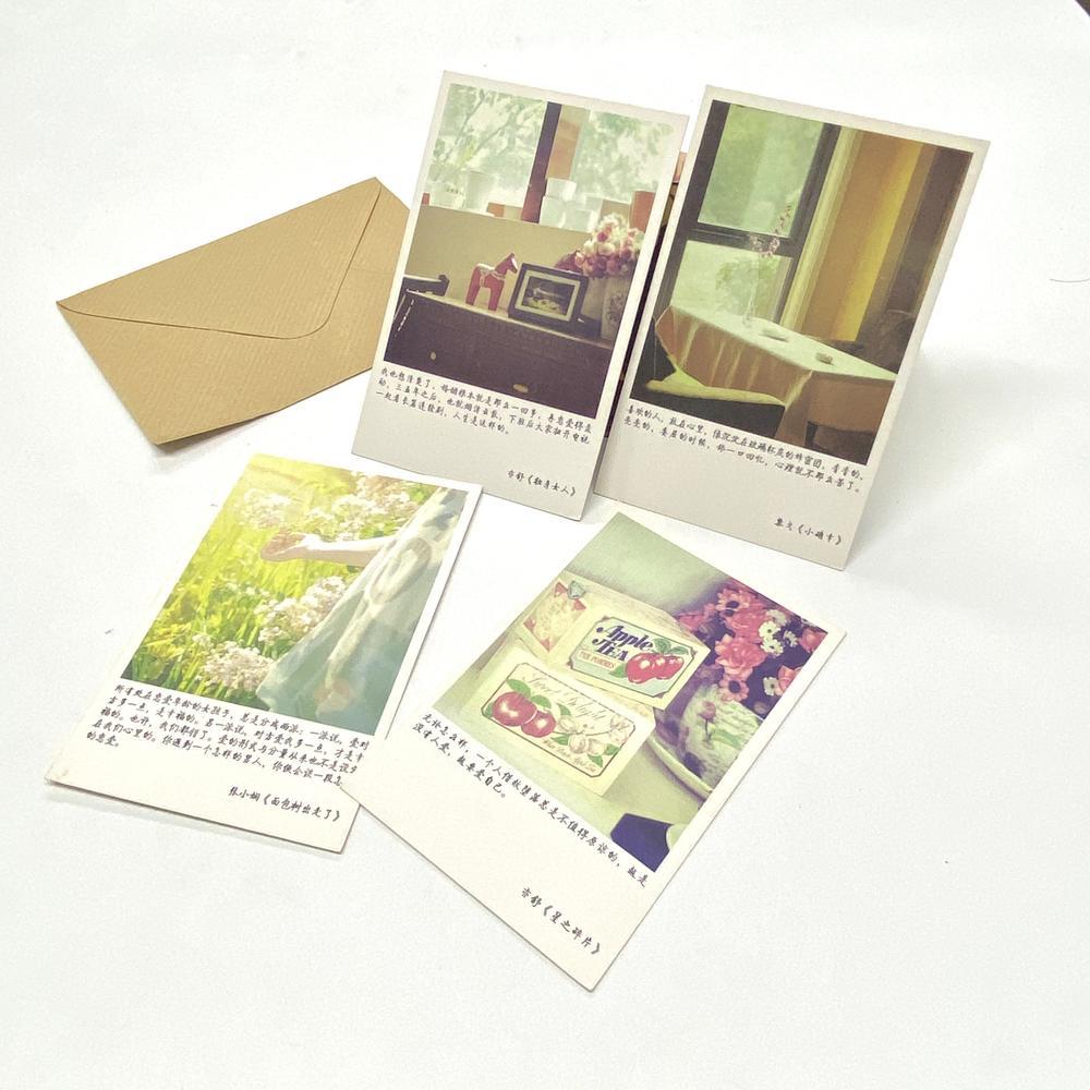 No Ink Leakage Custom Time Recorder Paper Card Printer Postcard Set