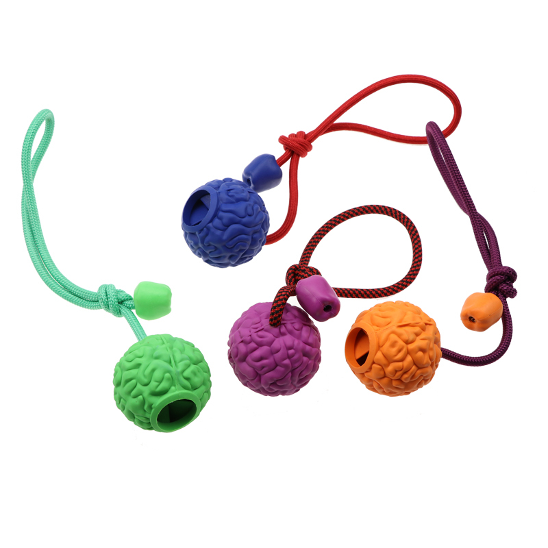 High quality environmental protection rubber food leakage toy ball, with leash interactive pet toys cheap.