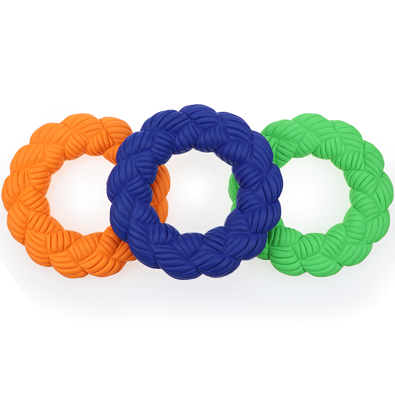 Bamboo Weaving Circle Ring Dog Chew Toys For Aggressive Chewers Pet Toys Chew Dog Toys Indestructible Dog Toy