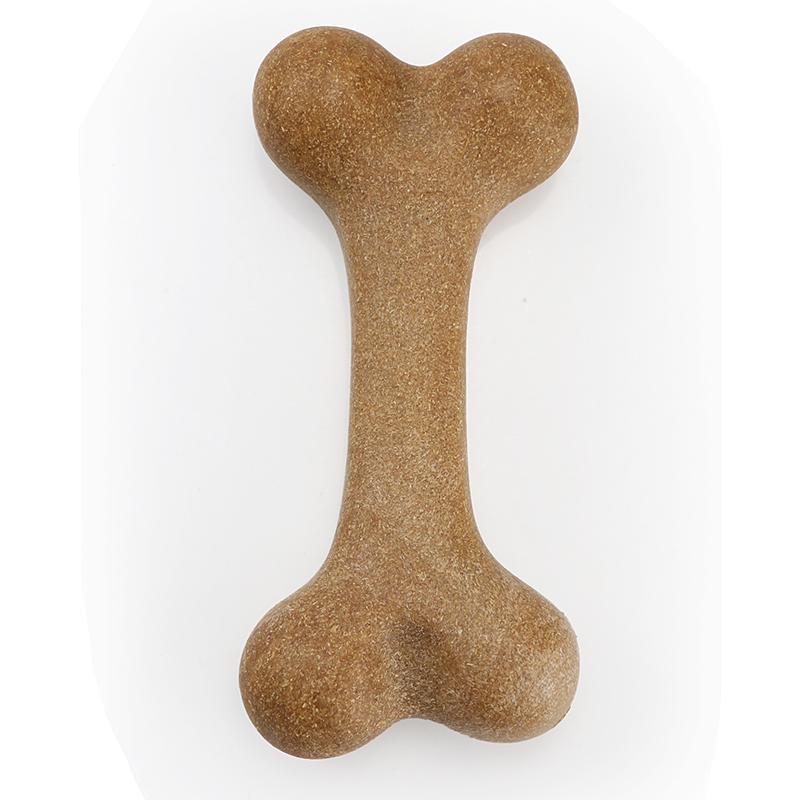 Wholesale Pet Molar Toys Nylon Dog Bone Toys Indestructible Dog Teething Toy Bamboo Wood Bone Shape Dog Chew Bones