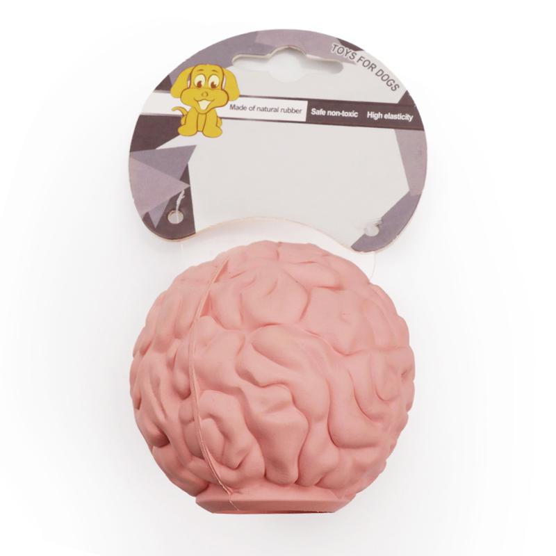 Brain Pattern Dog Snack Ball Pet Toys Dog Feeder Toy Ball Dog Treat Puzzle