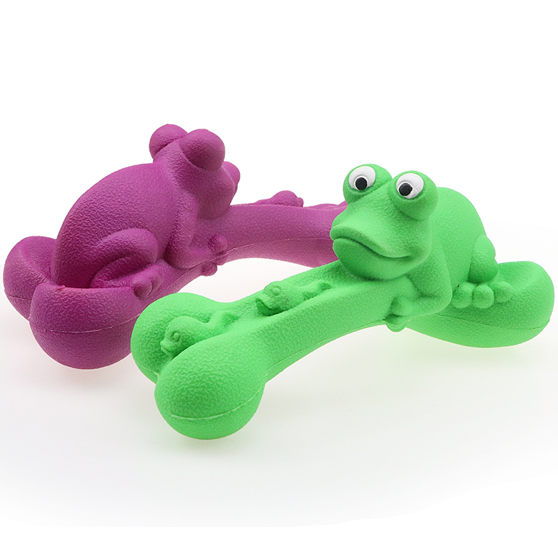 Lovely Frog Dog Rubber Toy Toys For Dog Pet Chew Toy Eco Friendly Pet Supplies
