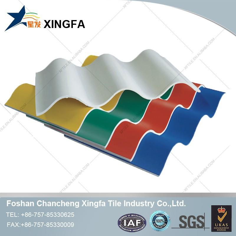 China Manufacture ISO Certificate Antique Chinese Roof Tiles 4 Layers Plastic Ridge Tile For Roof Corrugated PVC Roofing Sheet