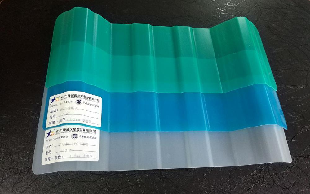 PVC Transparent roof sheet clear corrugate plastic false ceiling pvc board