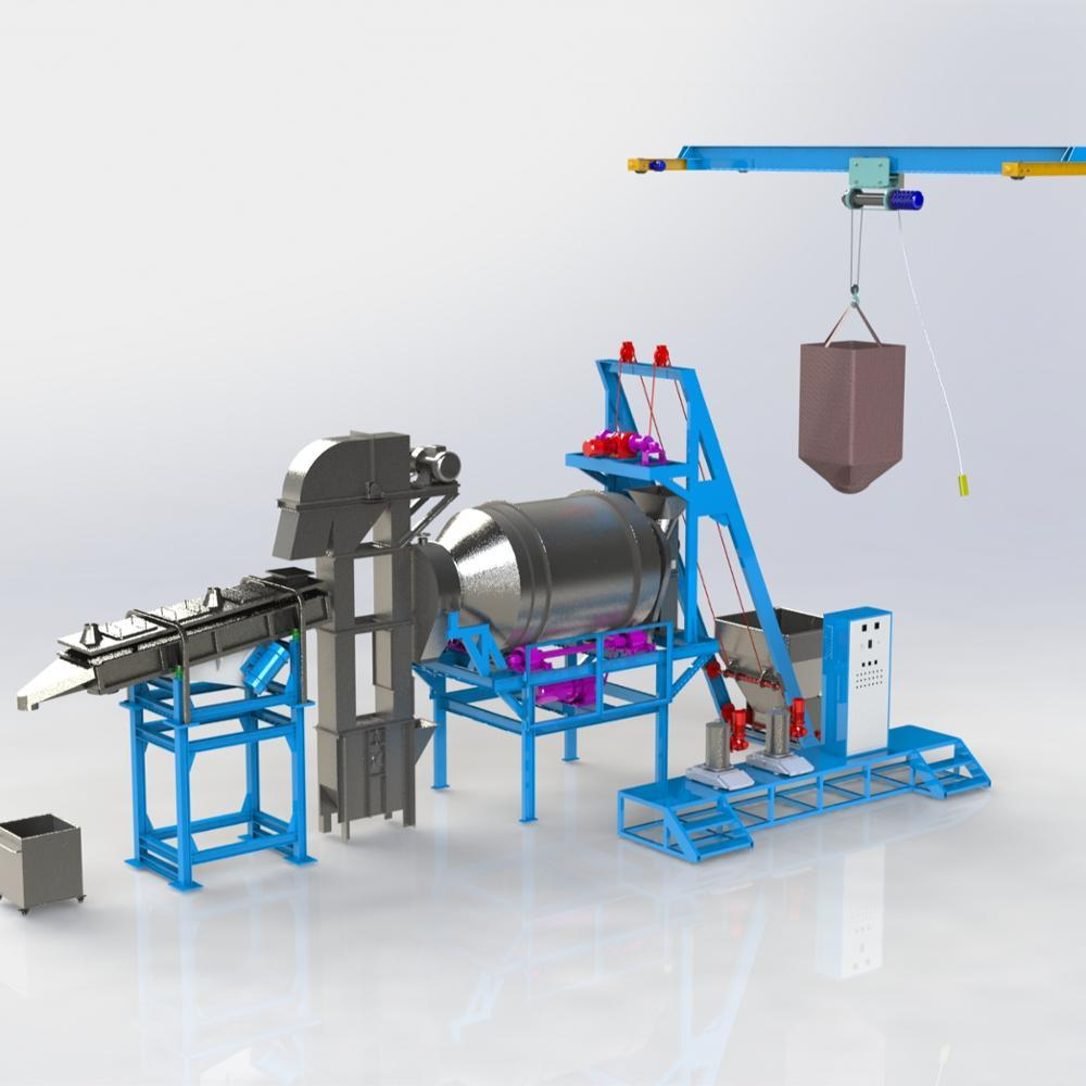 Low Cost Washing Powder Mixer / Detergent powder post blending production line