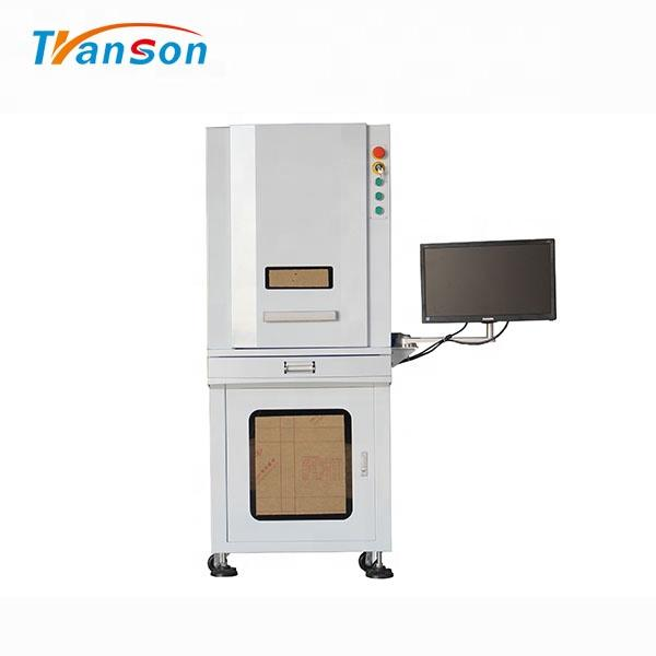50W Full Enclosed 3D Fiber Laser Engraver Marking Machine for Metal