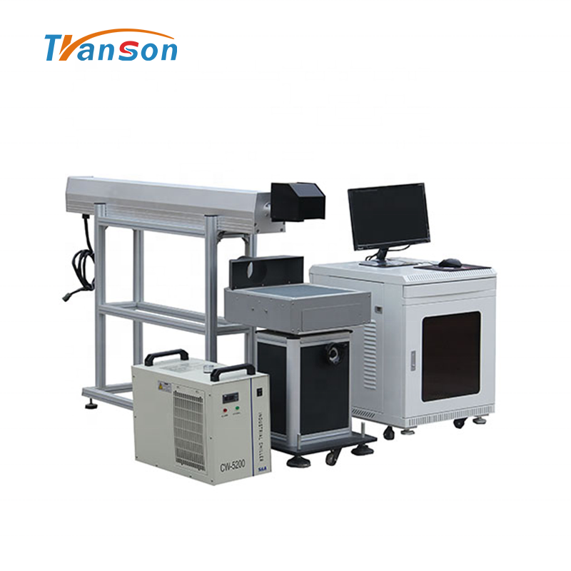 DAVI 50W CO2 Laser Marking Machine Metal Tube Desktop for Nonmetal