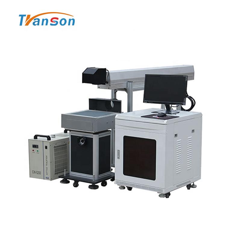 RECI 80W Desktop CO2 Laser Marking Machine Glass Tube Marking on Nonmetal