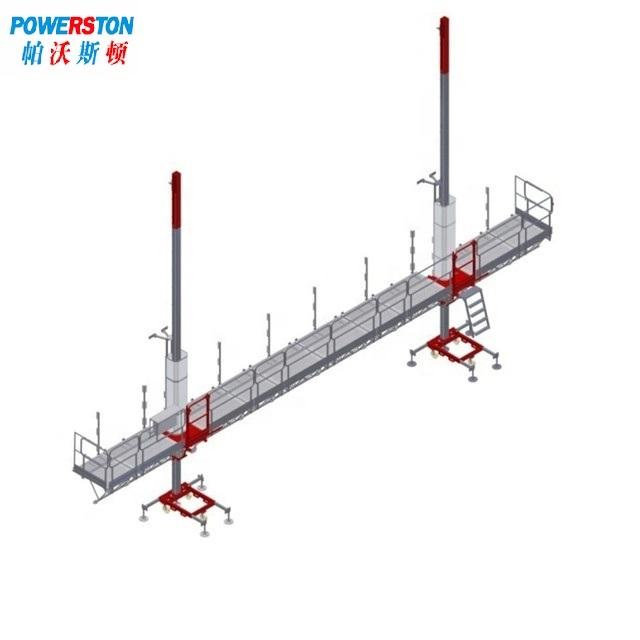 Twin tower mast climbing work platform