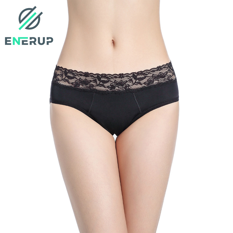 Enerup Lingerie Calcinhas Boxer Ladies Culotte Plus Size Female Underwear Leak Proof Menstrual Period Ladies Women's Panties