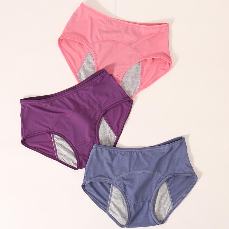 Black period blood time underwear for menstrual woman