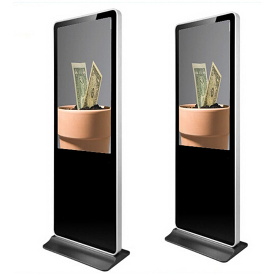 43 inch Free stand lcd display kiosk totem touch screen