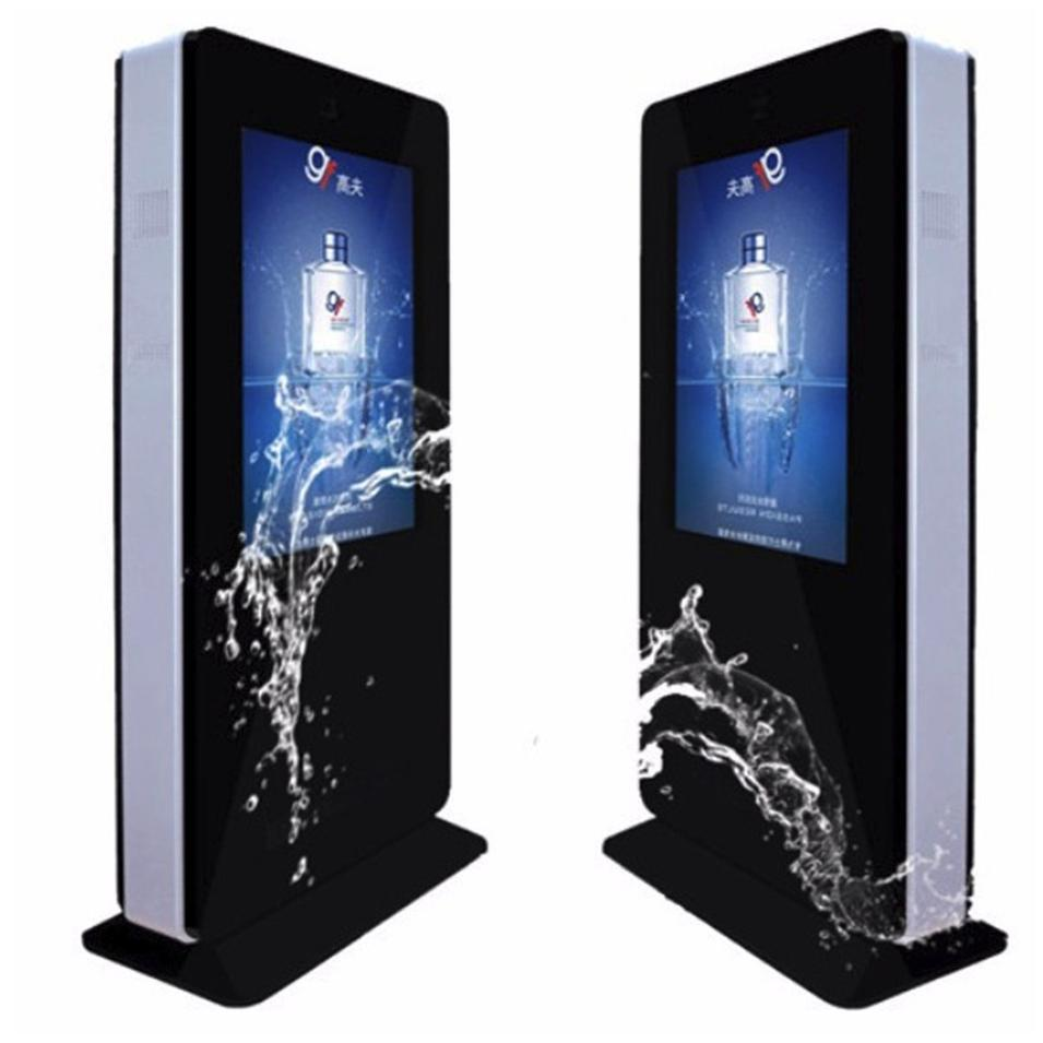 55'' Waterproof Ip65 Android Outdoor Digital Signage Advertising Totem Information Kiosk