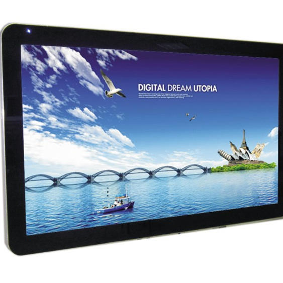 55 inch high brightness with android wall mounted in advertising player indoor