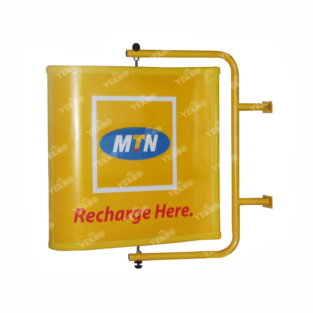 Double sided advertising patent product outdoor signage rotating with wind