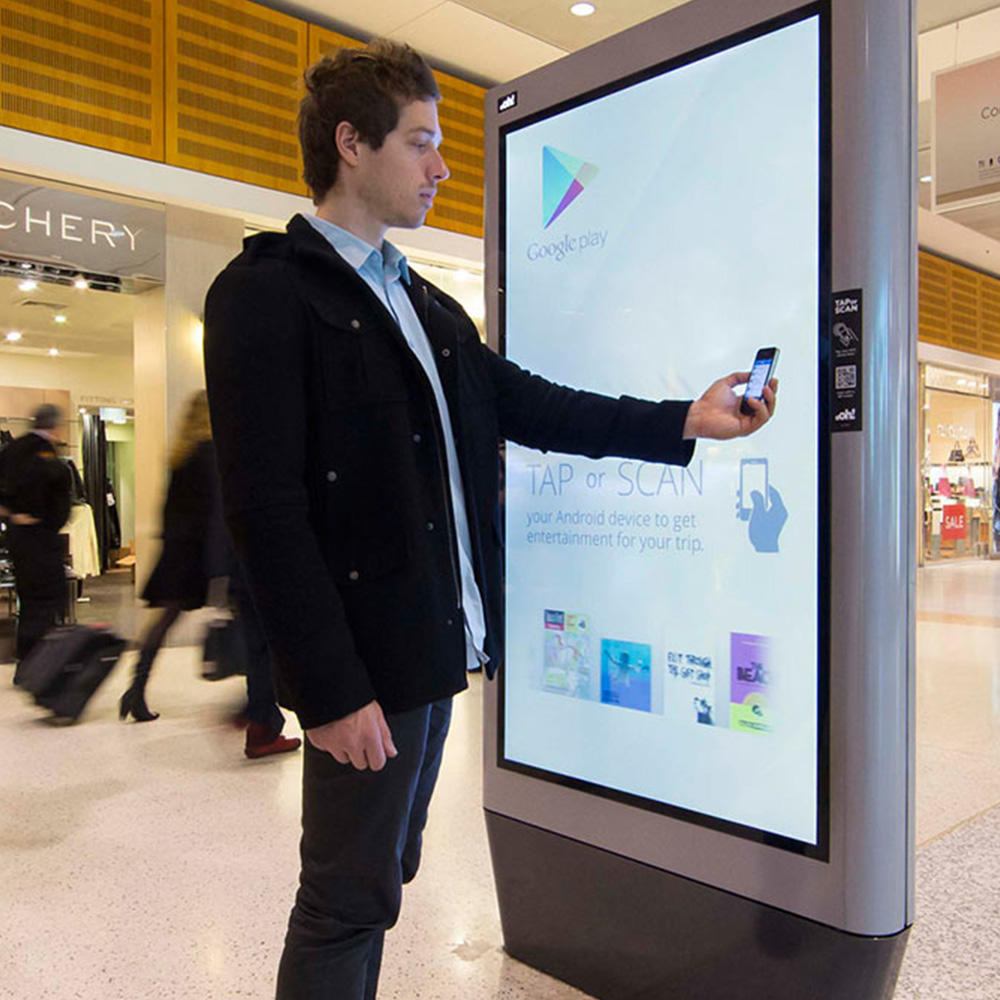 42 55 65 inch outdoor stand waterproof advertising lcd digital signage display